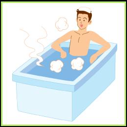 半身浴の入り方